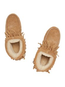 Just Sheepskin New highgate fringed bootie