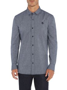 Perry Ellis America Cotton Oxford Long-Sleeve Shirt