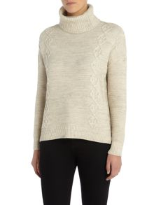 Vila Long Sleeve Ribbed Roll Neck Jumper