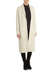 Vila Long Sleeve Ribbed Cardigan