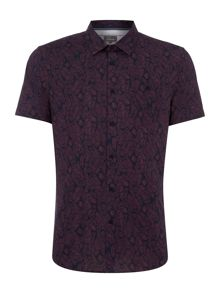 Linea Fairfield Palm Leaf Print Shirt