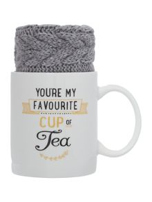 Aroma Home Tea mug and grey socks gift set