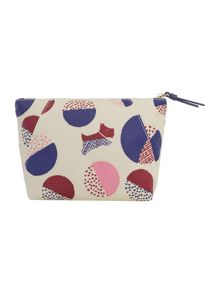 Radley Dapple dog multicolour small cosmetic bag