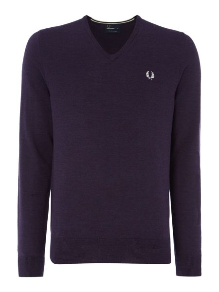 Fred Perry Classic V Neck Pull Over Sweater