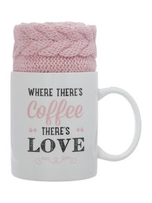 Aroma Home Coffee mug and pink socks gift set