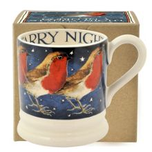 Emma Bridgewater Robin in a starry night 1/2 pint mug