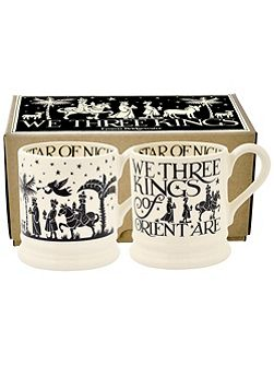 Three kings set of two 1/2 pint mugs