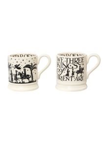 Emma Bridgewater Three kings set of two 1/2 pint mugs boxed