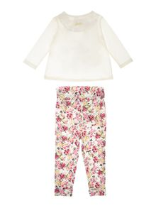 Joules Baby Girls Bunny Top Bottom Set Ditsy