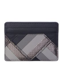 Michael Kors Marquertry patchwork black card holder