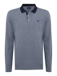 Gant Pique-Cotton Long-Sleeve Polo Shirt