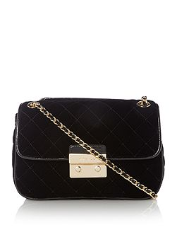 Sloan black large fold over bag
