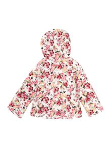 Joules Baby Girl`s Hooded Reversible Floral Jacket