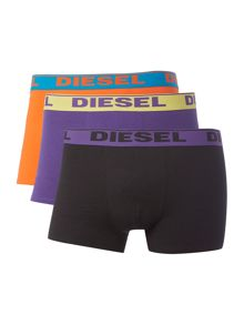 Diesel 3 Pack Shawn Text Waistband Trunks
