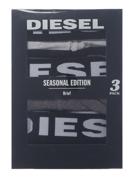 Diesel 3 Pack Andre Contrast Waistband Brief