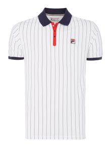Fila BB1 pin stripe polo shirt