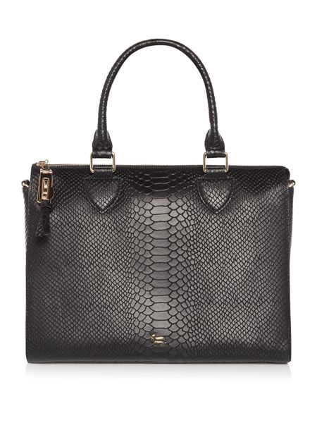 Lamb 1887 The Lilly black snake tote bag