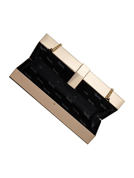 Lamb 1887 Cove purple box clutch bag