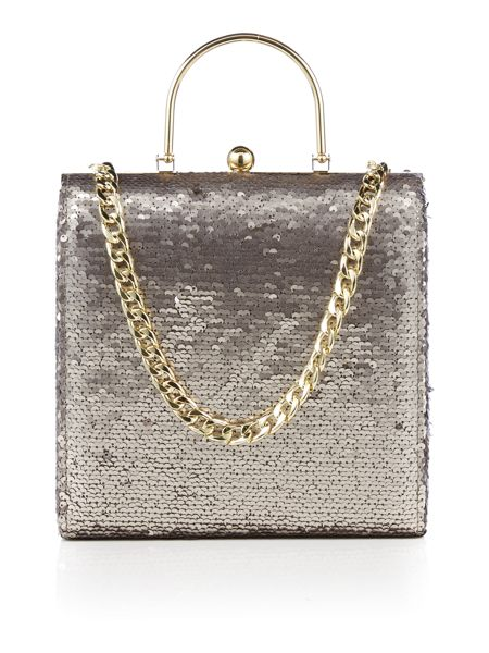 Therapy Fiona sequin frame handbag