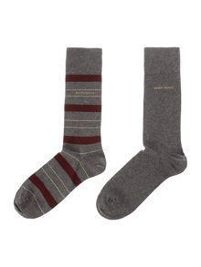 Hugo Boss 2 Pack Striped Socks