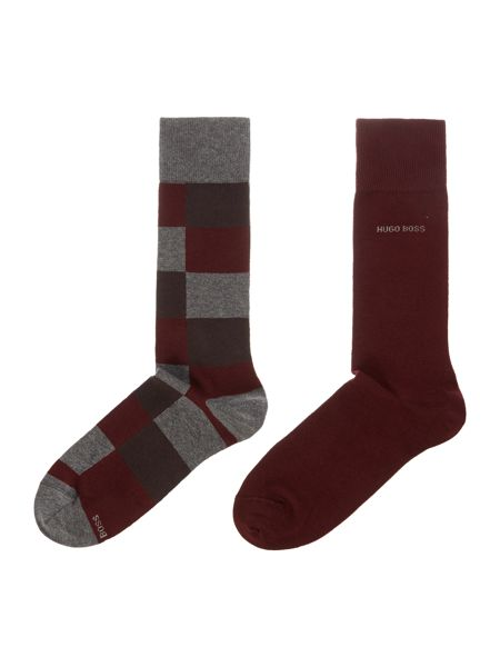 Hugo Boss 2 Pack Check Design Socks