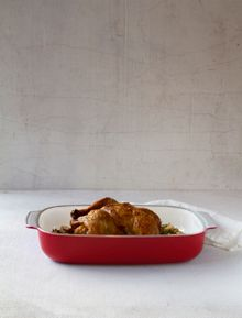 Creo SmartGlass Small Baking Dish, Shanghai Red