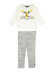 Joules Baby Boys Long Sleeve Top Bottom Set