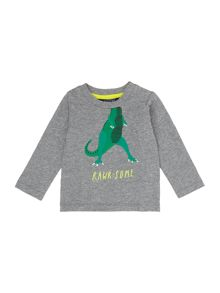 Joules Boys Toddler Long Sleeve Dinosaur T-Shirt