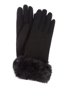Isotoner Fur cuff thermal glove