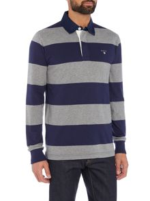 Gant Striped Long-Sleeve Rugby Shirt