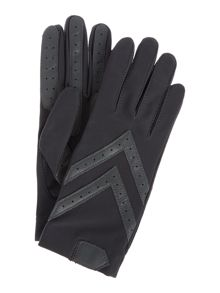 Isotoner Spandex origional leather trim glove