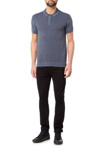Label Lab Lewis Knitted Polo Shirt