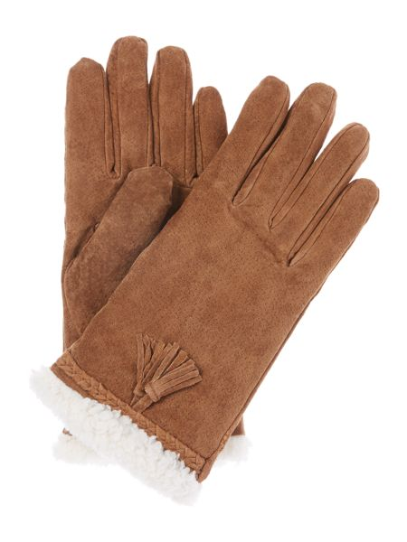 Isotoner Sherpa sueded glove