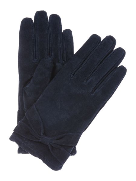 Isotoner Suedette glove with bow detail
