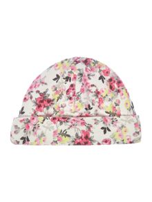 Joules New Born Baby Girl Beanie Hat Floral