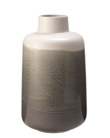 Gray & Willow Jonah grey drip bottle vase