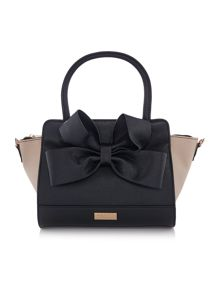 Lipsy Black bow tote bag