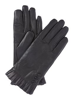 Smart touch water resistant leather glove