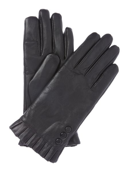Isotoner Smart touch water resistant leather glove