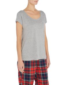 Pieces Scoop neck pyjama t-shirt