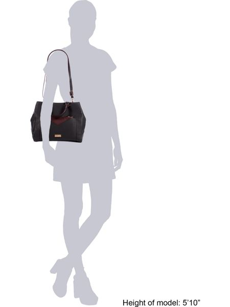Lipsy Black pocket tote bag