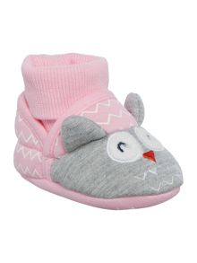 Joules Baby Girl Nipper Slippers Owl Shoes