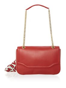 Love Moschino Plaque foldover bag