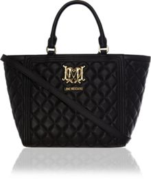 Love Moschino Superquilt black tote bag