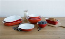 Creo SmartGlass Set of 4 Nesting Bowls, Shanghai Red