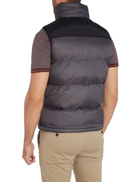 Schott NYC 2190V Padded vest with logo badge