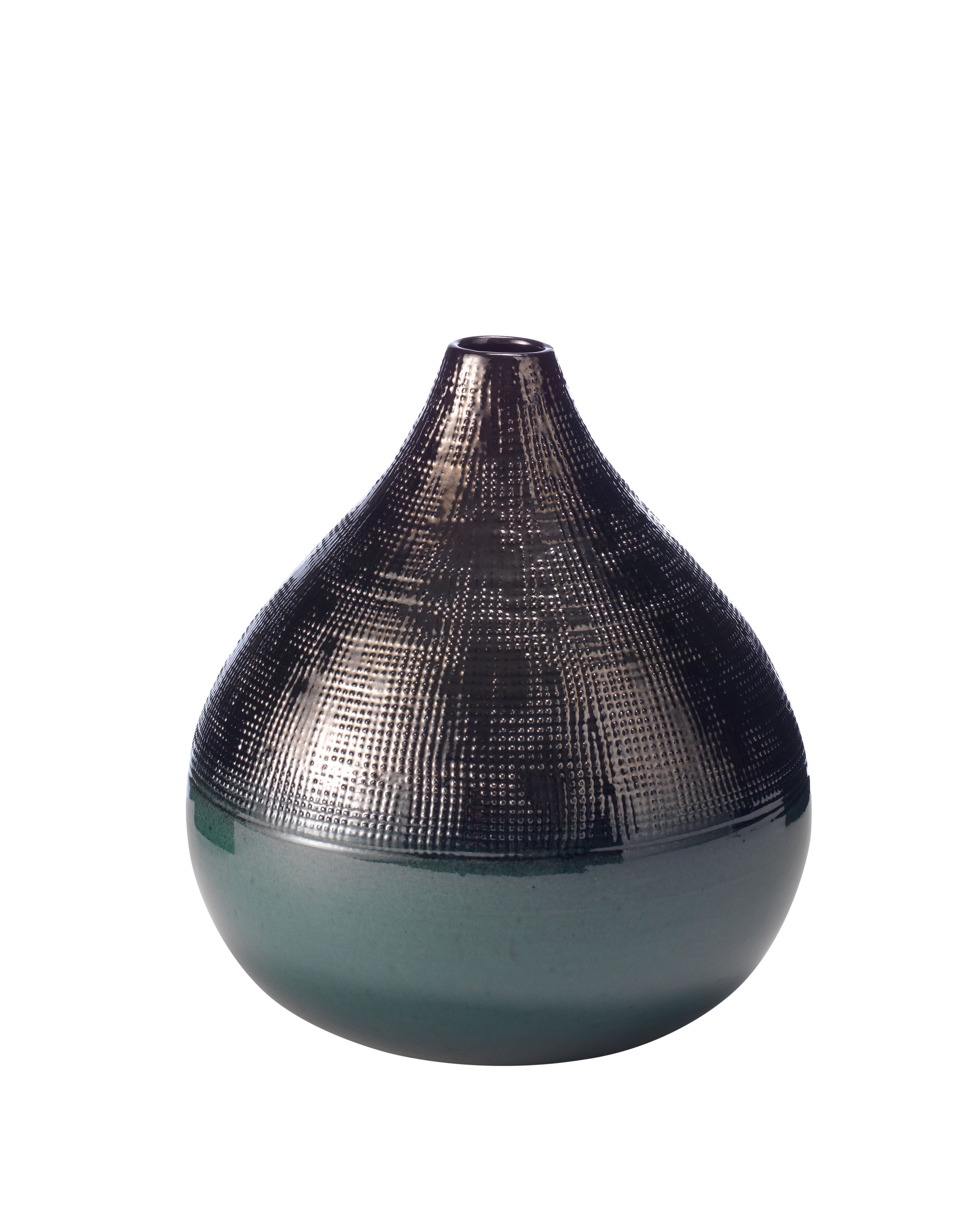 Living by Christiane Lemieux Living by Christiane Lemieux Casey tall contrast teal bud vase