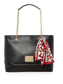 Love Moschino Plaque chain shoulder tote bag