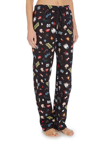 Pieces Comic print pyjama pant