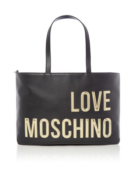 Love Moschino Gold letters tote bag